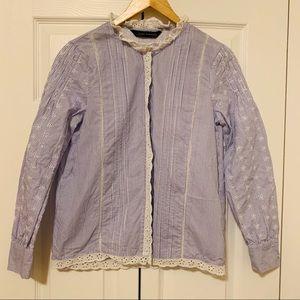 Zara button down blouse